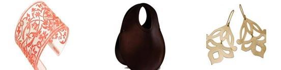 From left: Philippa Green Cuff R400, Urban Africa Eggtail bag R1600, Ida Elsje earrings R930