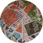 Stamp collage lining inside of Atelier_Mayer bags