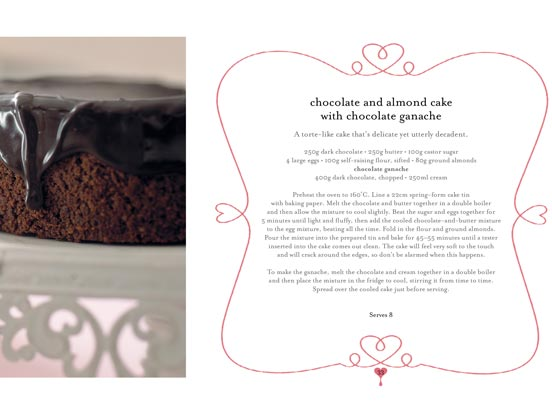 Recipe for Tina's chocolate and almond cake with chocolate ganache