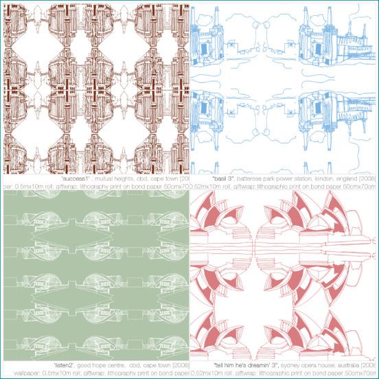 Lorenzo Nassimbeni's architecturally inspired wallpaper