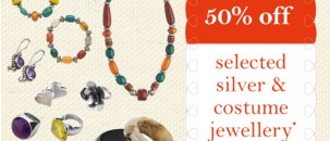50% off jewellery at Poetry