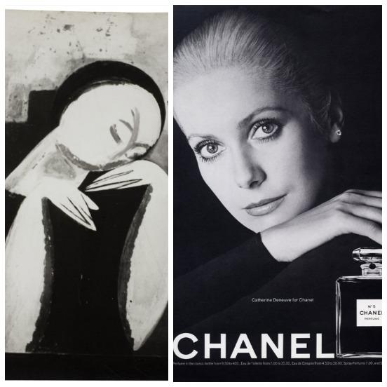 Brancusi portrait and the iconic image of Catherine Deneuve for Chanel No. 5