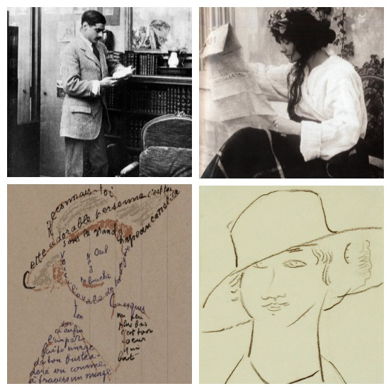 Clockwise from top: Chanel and her Boy. Modigliani's portrait of Coco and one by poet-playwright Appolinaire