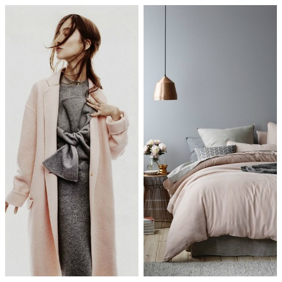 Grey + muted pink