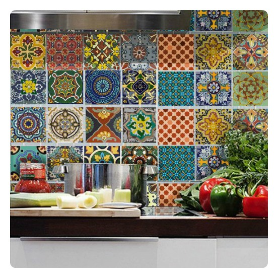 Nice  PS Image number five is actually a wallpaper and the last image is not tiles but wall decals Brilliant