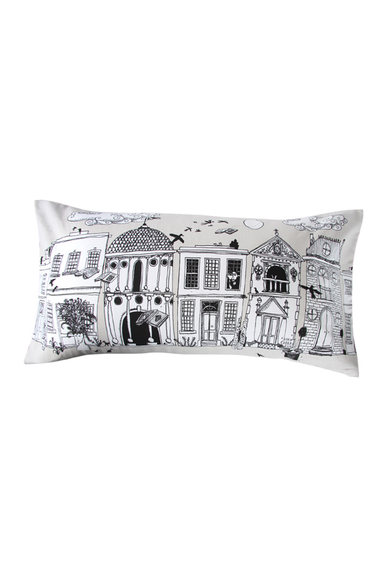 Michael Chandler Illustrated Houses Scatter Cushion R159.99