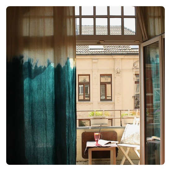 To DIY For: Ombre Dyed Curtains   I Want That