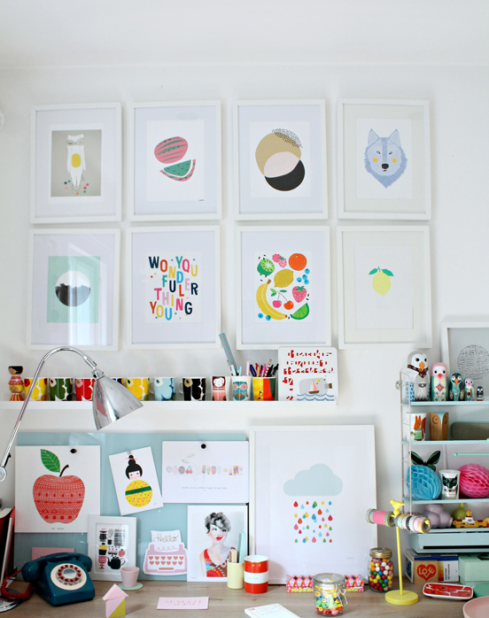 Colorful-gallery-wall-Little-Big-Bell