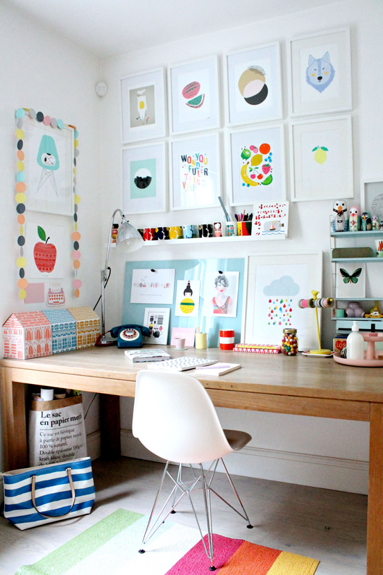 Tour This Amazing Fashion Blogger S Transitional Home Office: A Happy Home Office