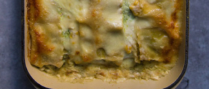 White Vegetarian Lasagne