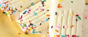 Cake Batter Popsicles