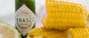 Mexican Corn with Tabasco Green Pepper Sauce