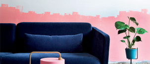 Trend Spot: Messy, Dip Painted Walls