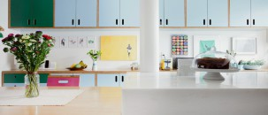 Pale Blue Kitchens