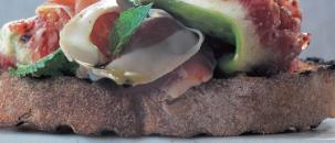 Prosciutto, Figs & Mint Crostini